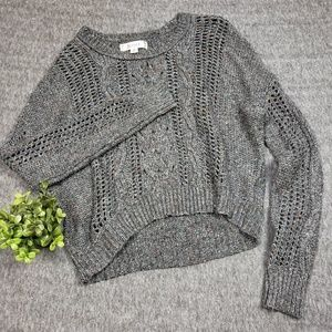 Decree Brown Cable Knit Sweater